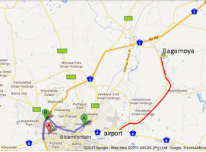 Possible route to Bagamoya